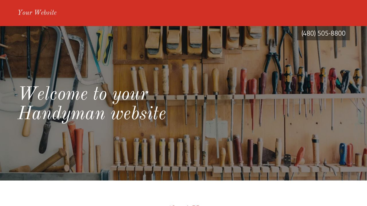 Handyman Website: Example 17