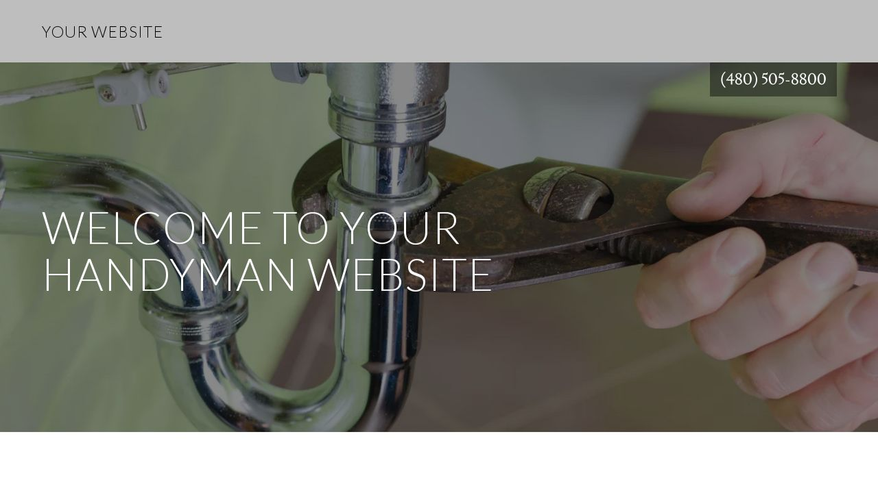 Handyman Website: Example 3