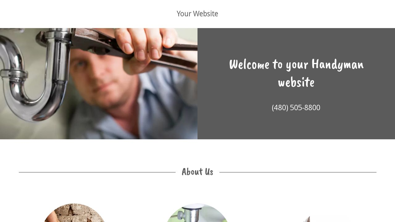 Handyman Website: Example 5