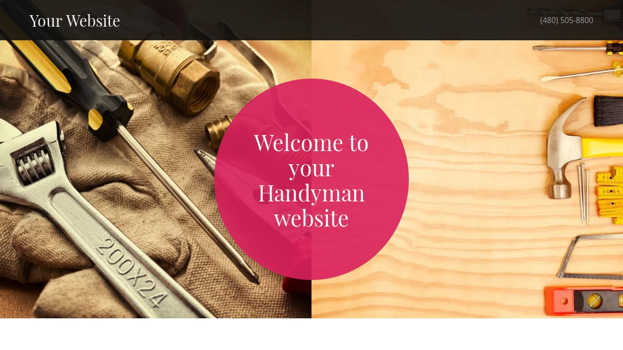 Handyman Website: Example 8