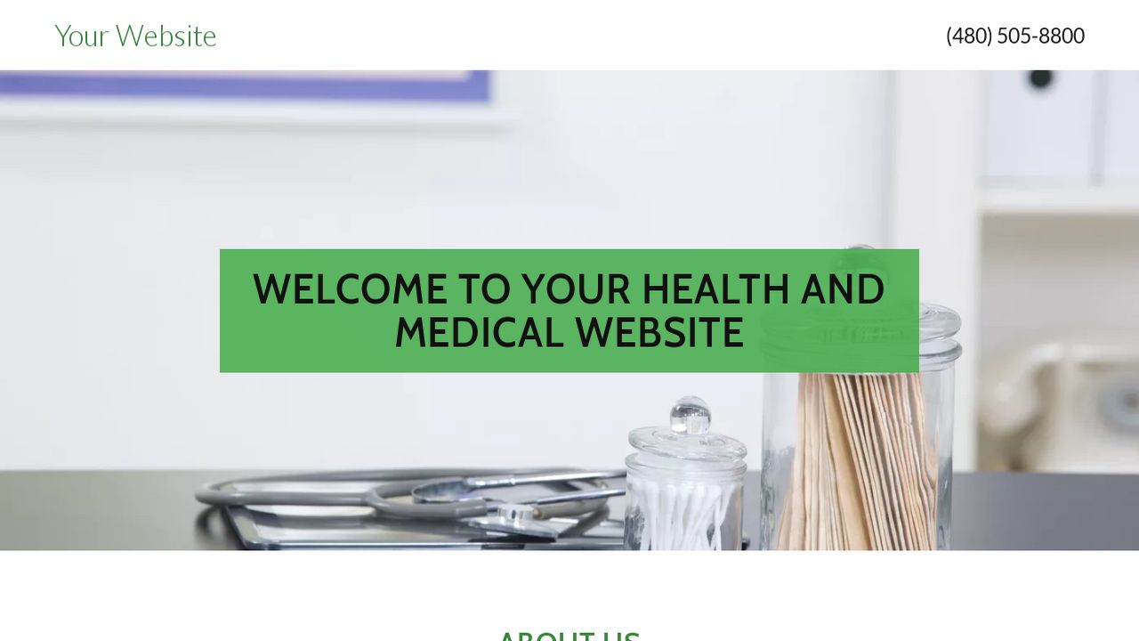 Health and Medical Website: Example 12