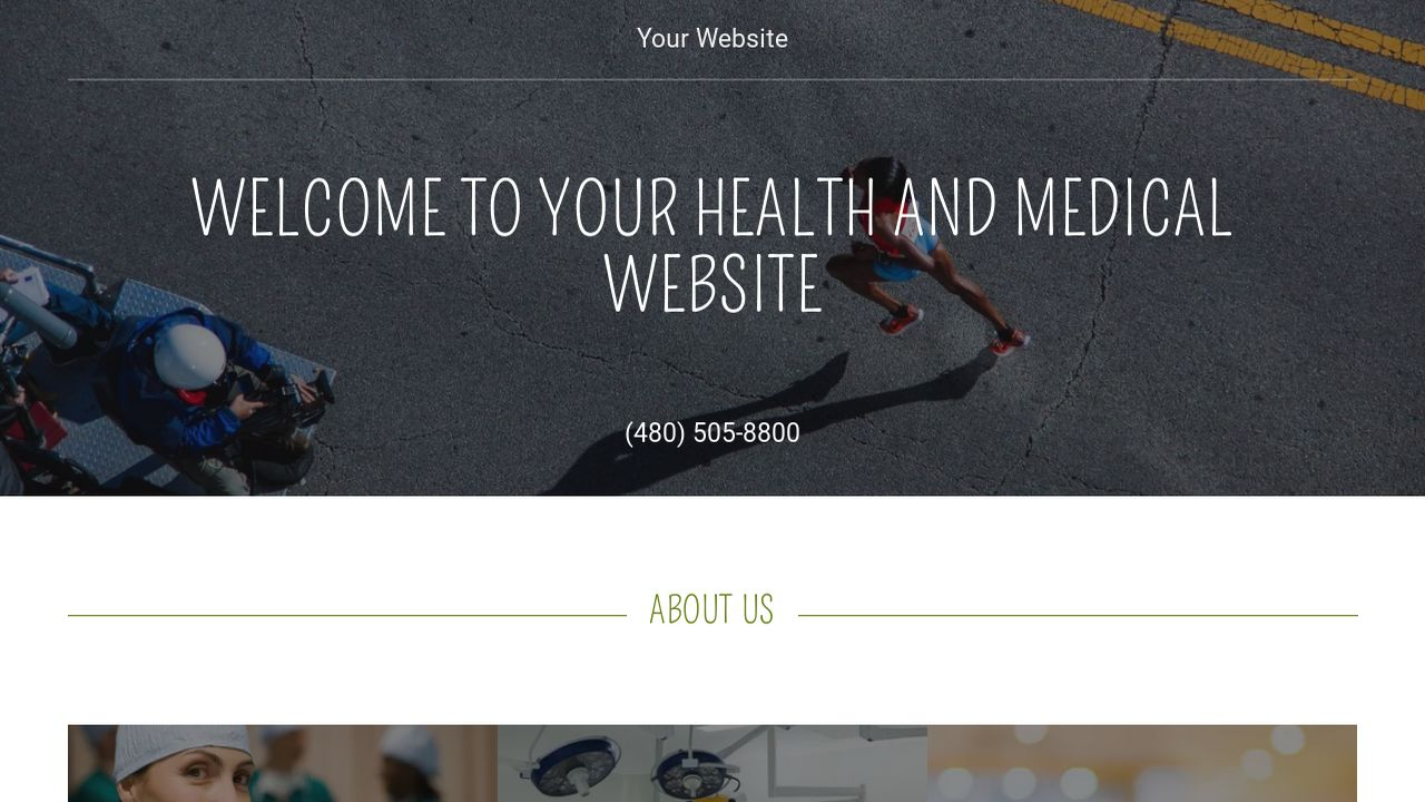 Health and Medical Website: Example 16