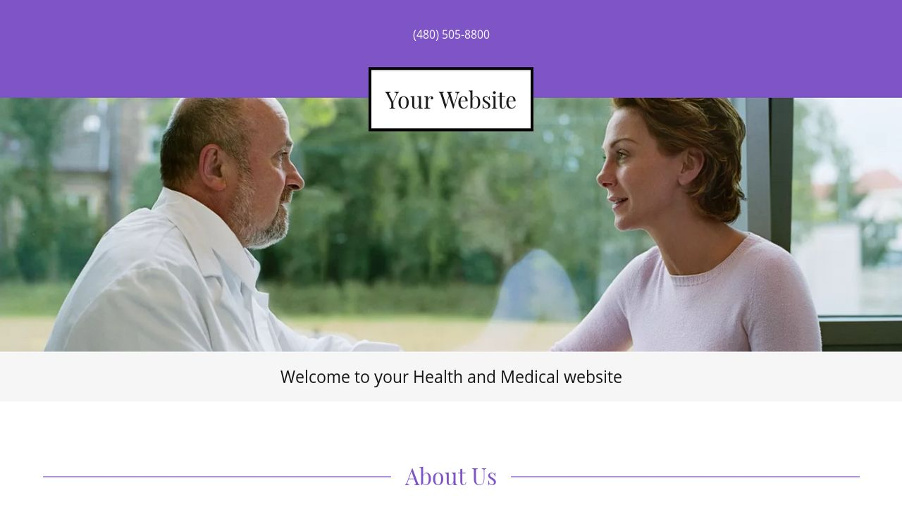 Health and Medical Website: Example 6