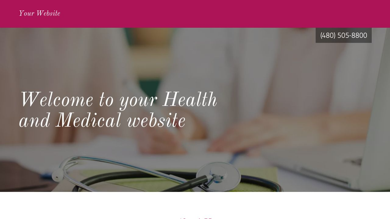 Health and Medical Website: Example 7