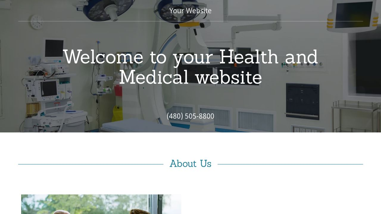 Health and Medical Website: Example 9