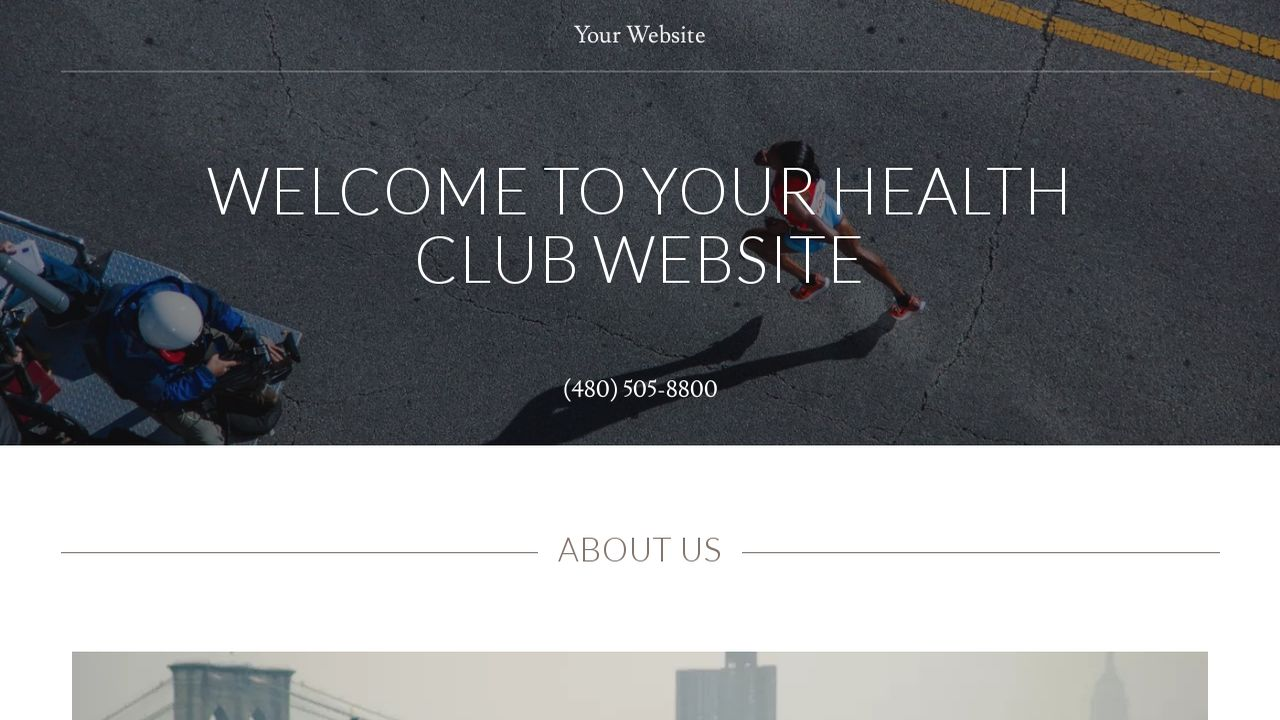 Simple and clean health club website template design psd for.