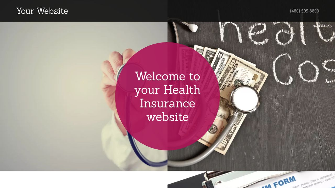 Health Insurance Website: Example 12
