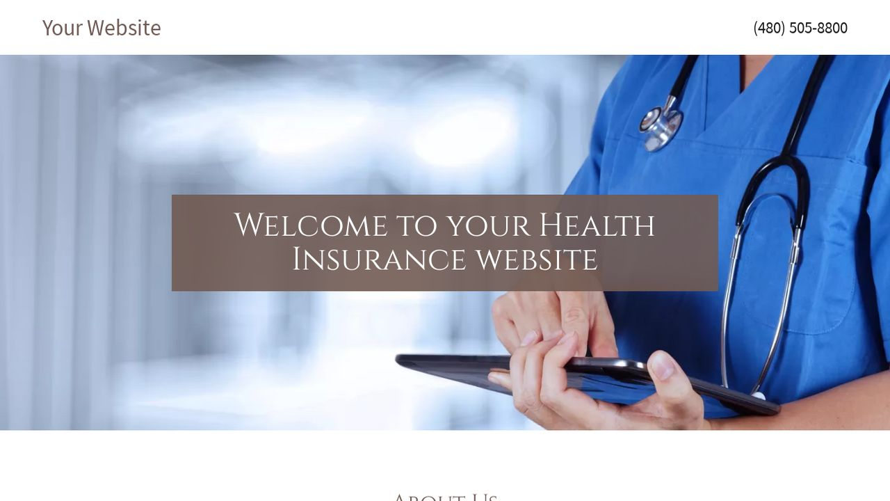 Health Insurance Website: Example 14