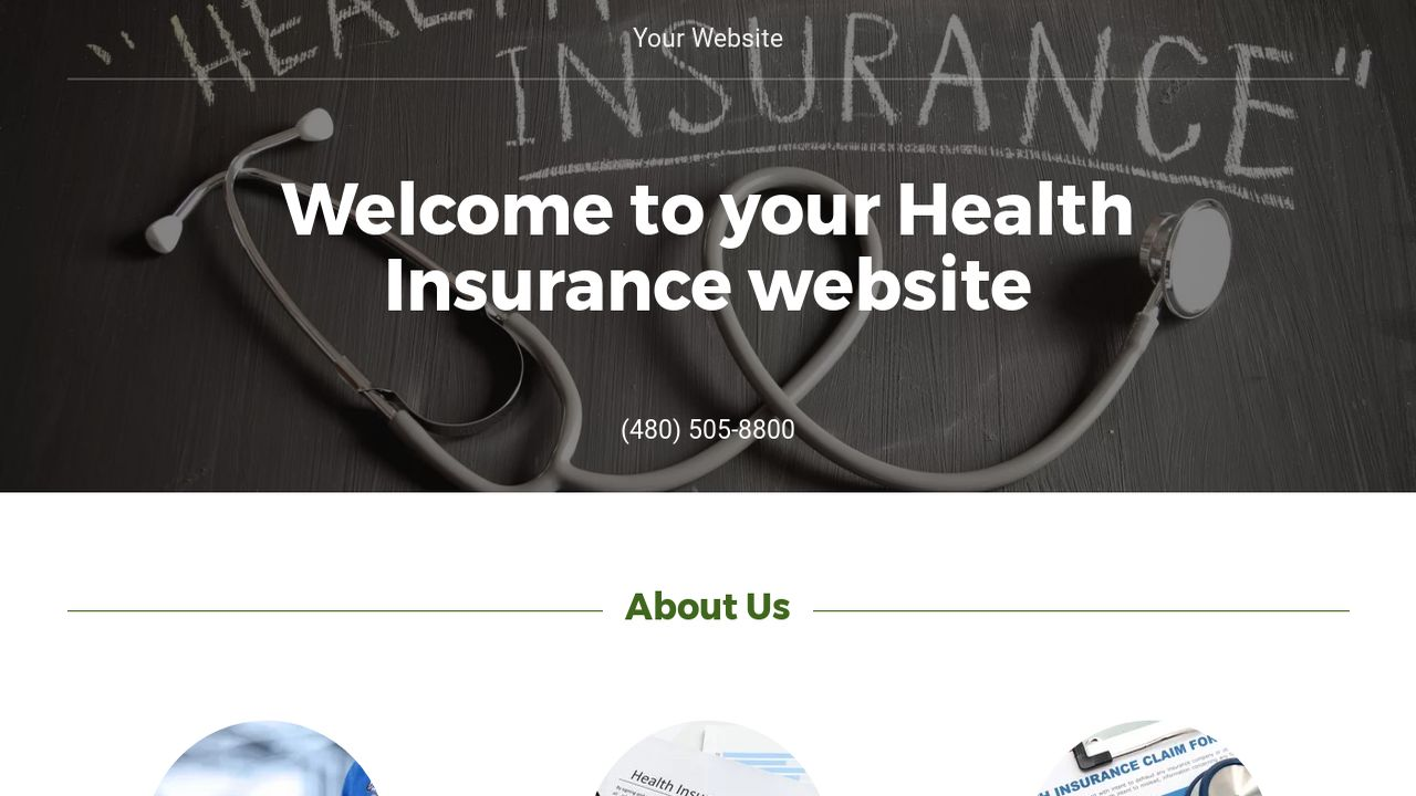 Health Insurance Website: Example 16
