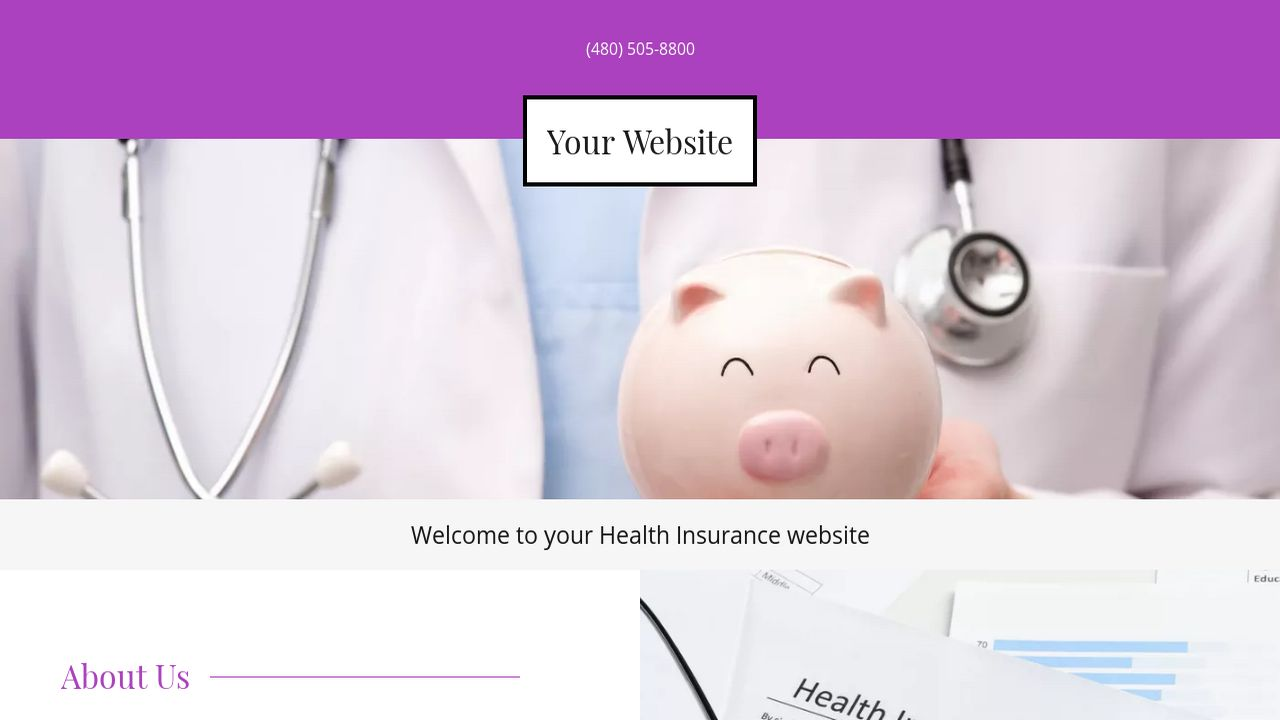 Health Insurance Website: Example 17