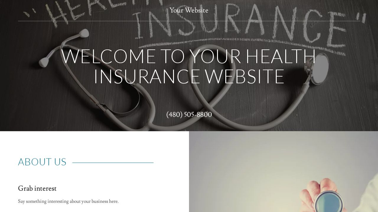 Health Insurance Website: Example 2