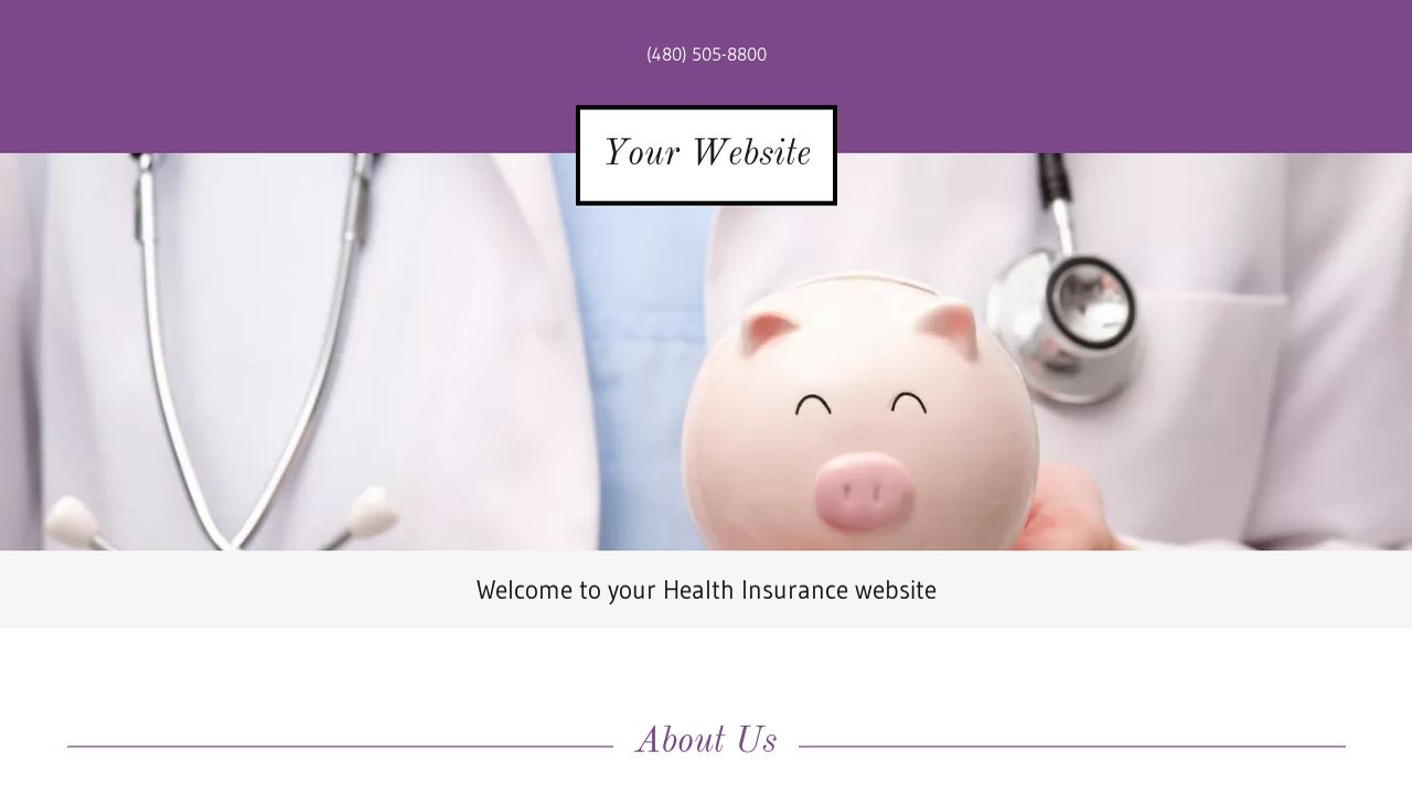 Health Insurance Website: Example 3