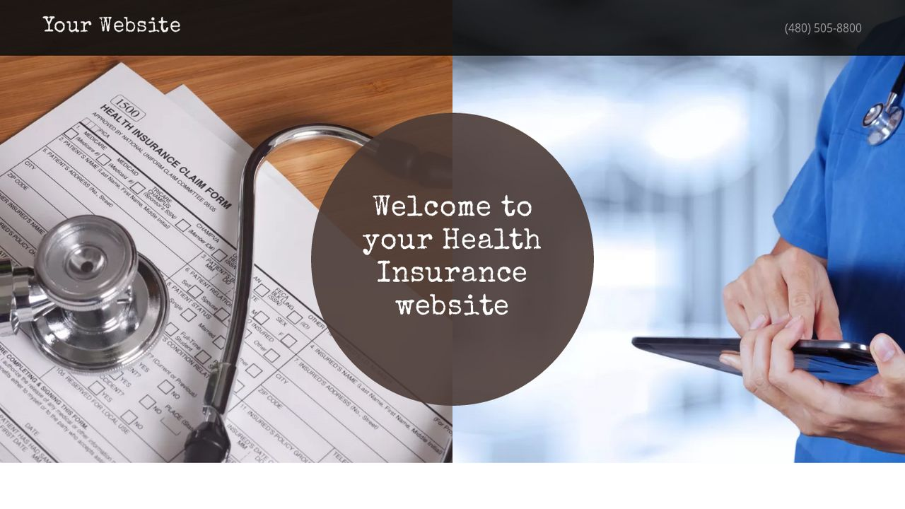 Health Insurance Website: Example 5