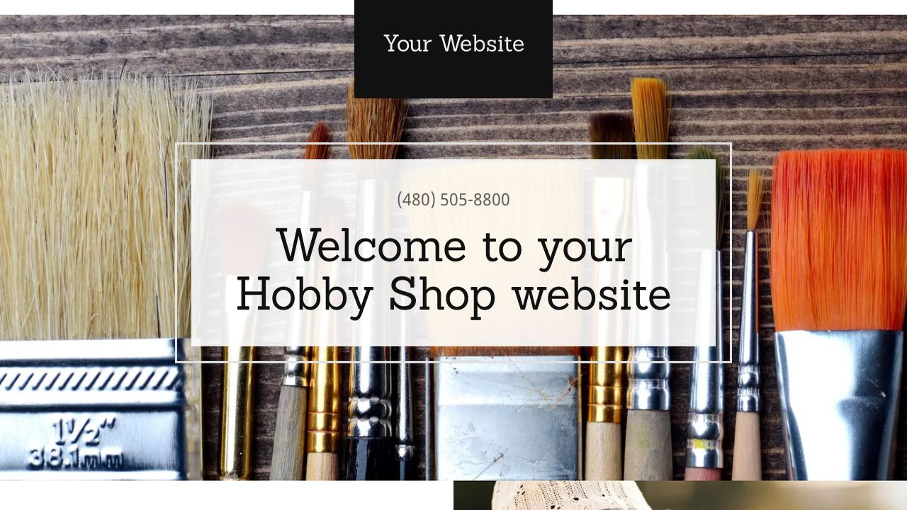 Hobby Shop Website: Example 15