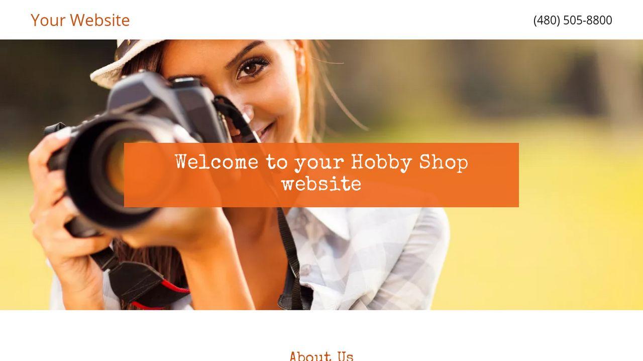 example 8 hobby shop website template godaddy