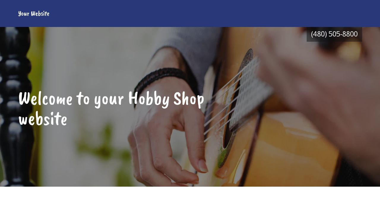 Hobby Shop Website: Example 18