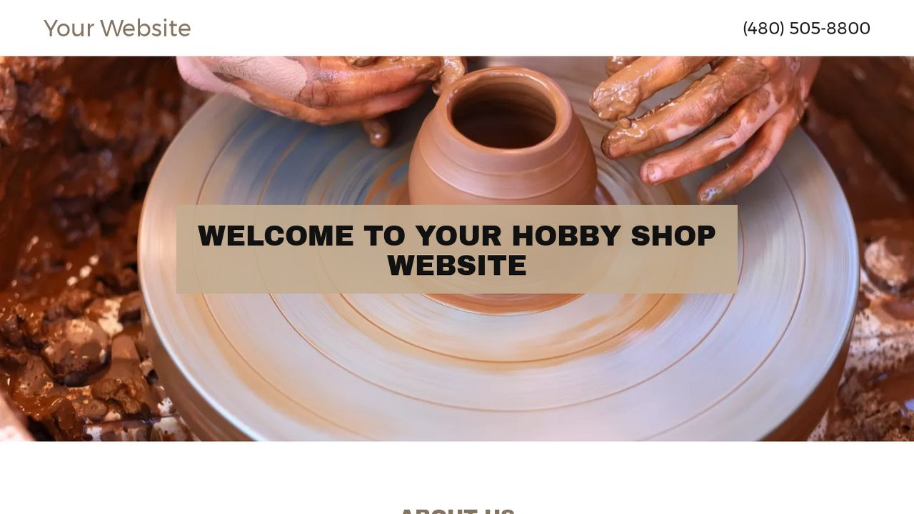 Hobby Shop Website: Example 2
