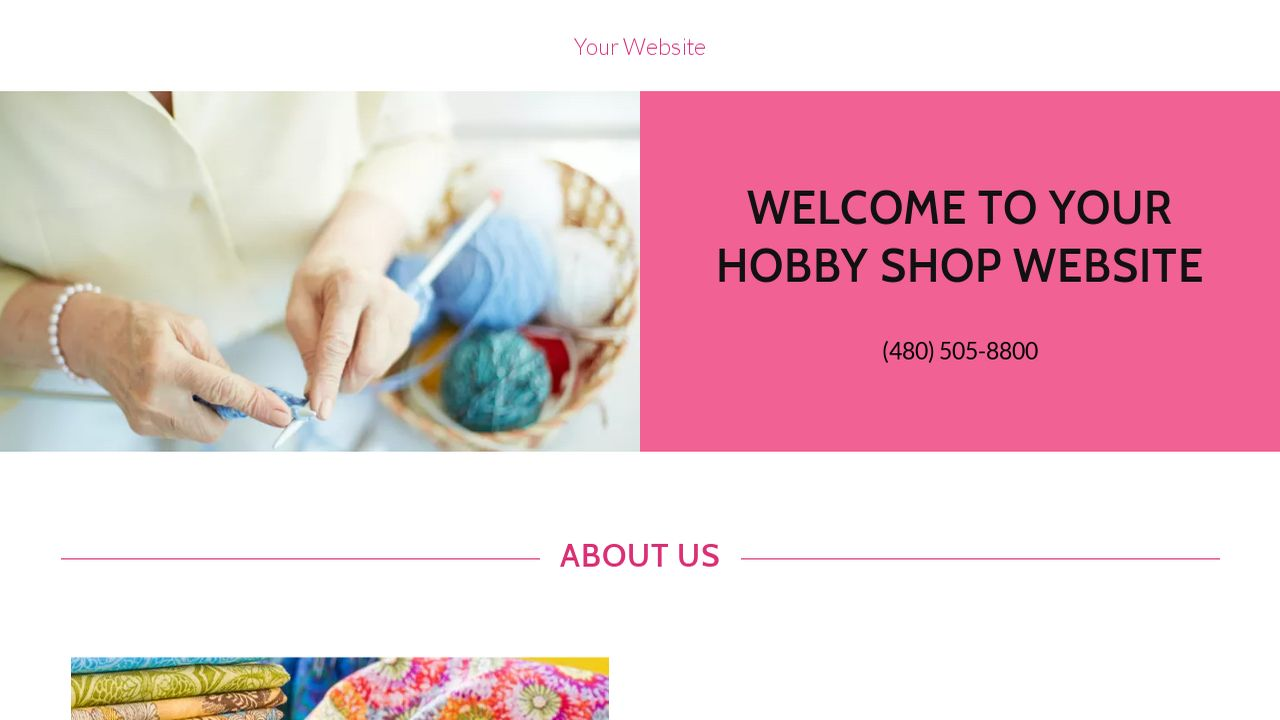 Hobby Shop Website: Example 6