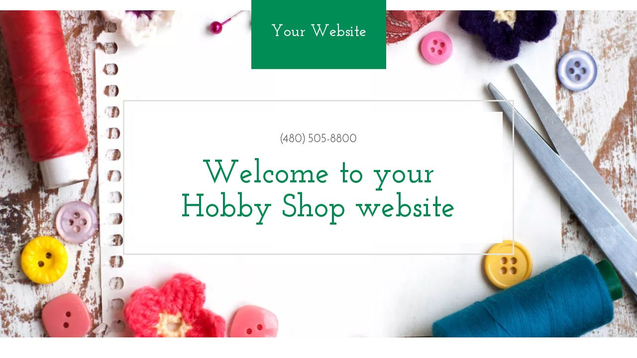 Hobby Shop Website: Example 8