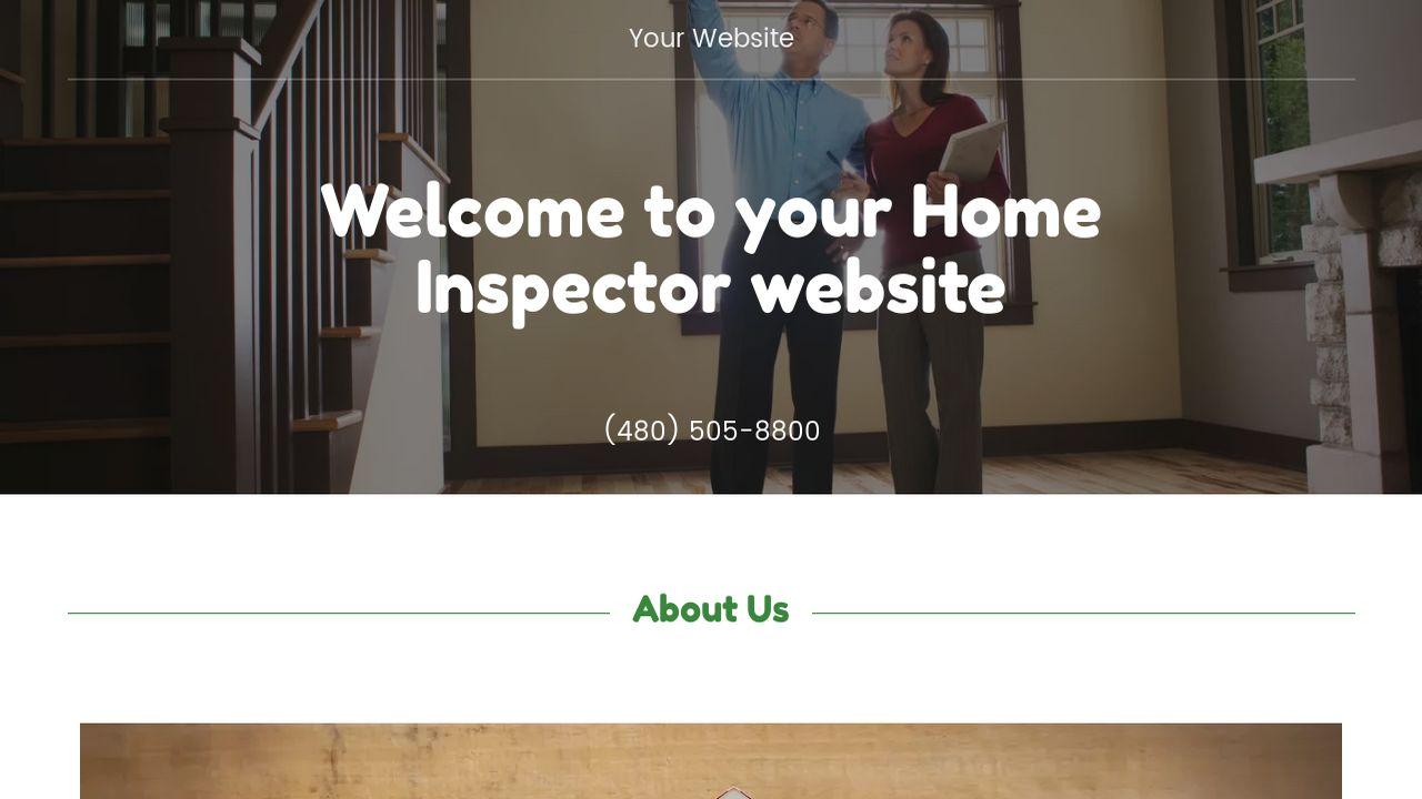 Home Inspector Website Templates Godaddy