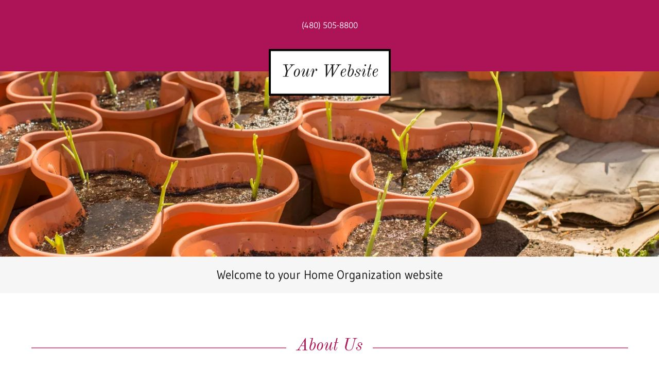 Home Organization Website: Example 1