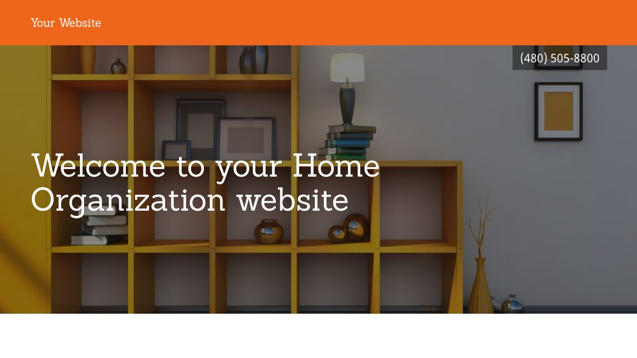 Home Organization Website: Example 11