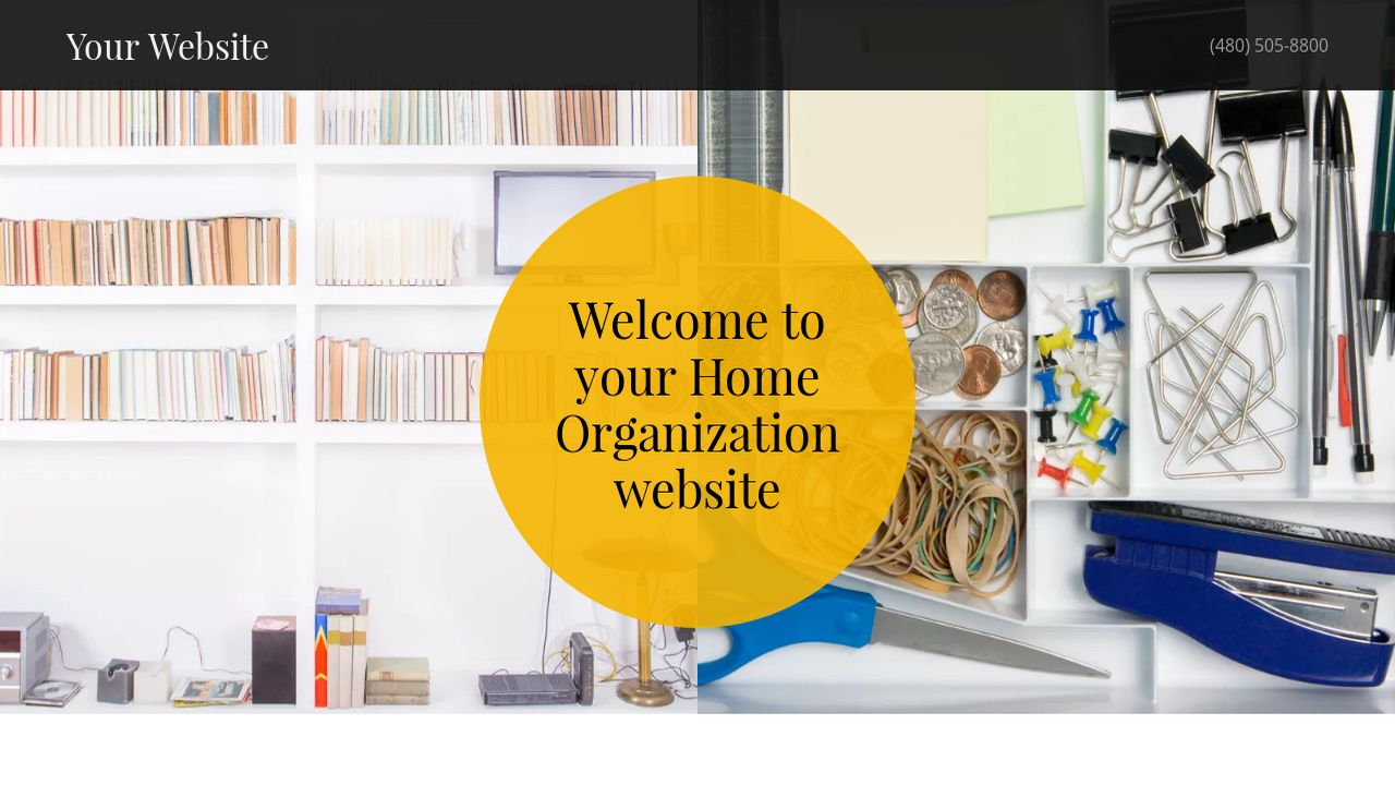 Home Organization Website: Example 13