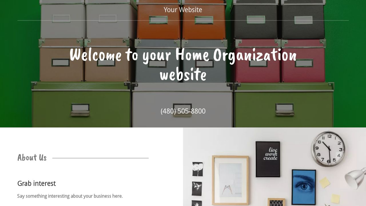 Home Organization Website: Example 14
