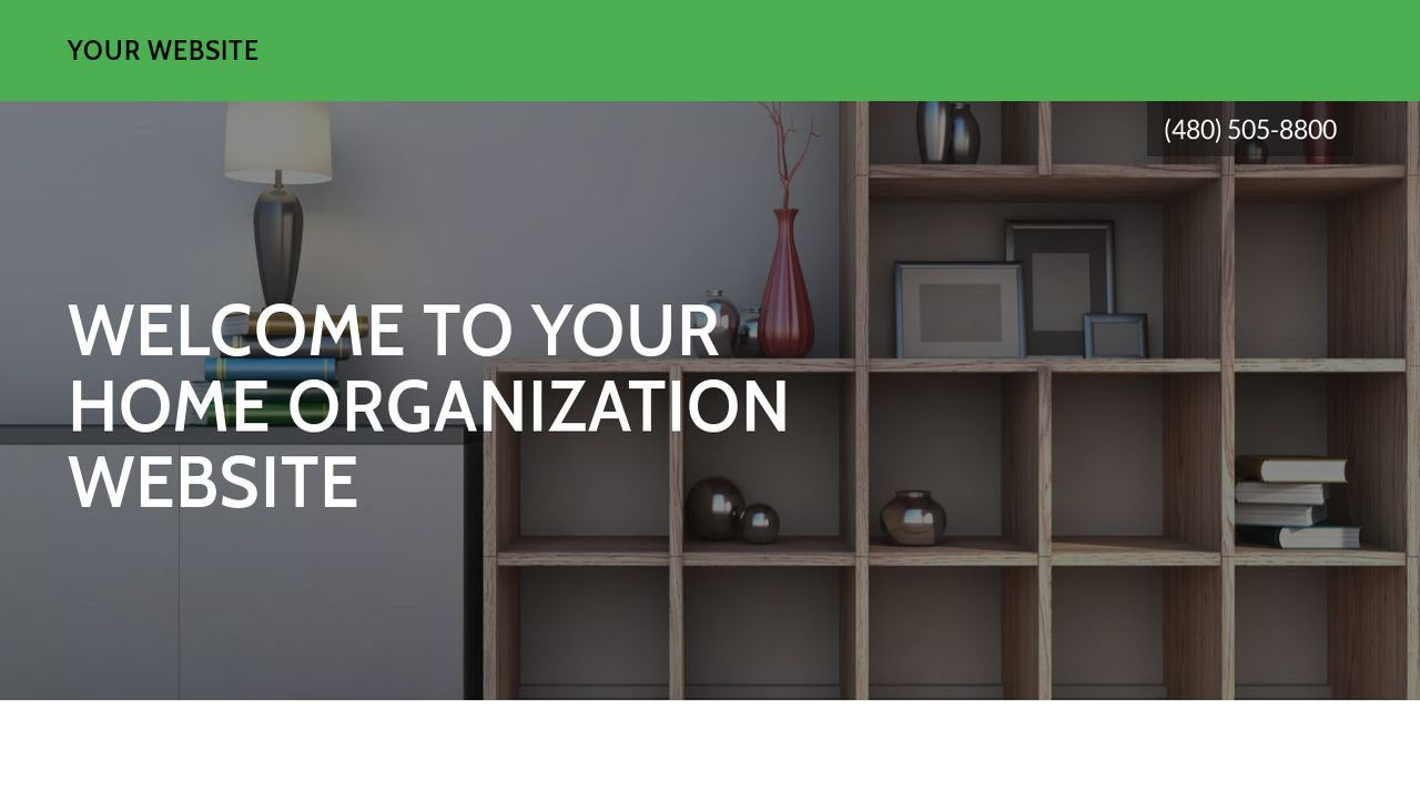 Home Organization Website: Example 18