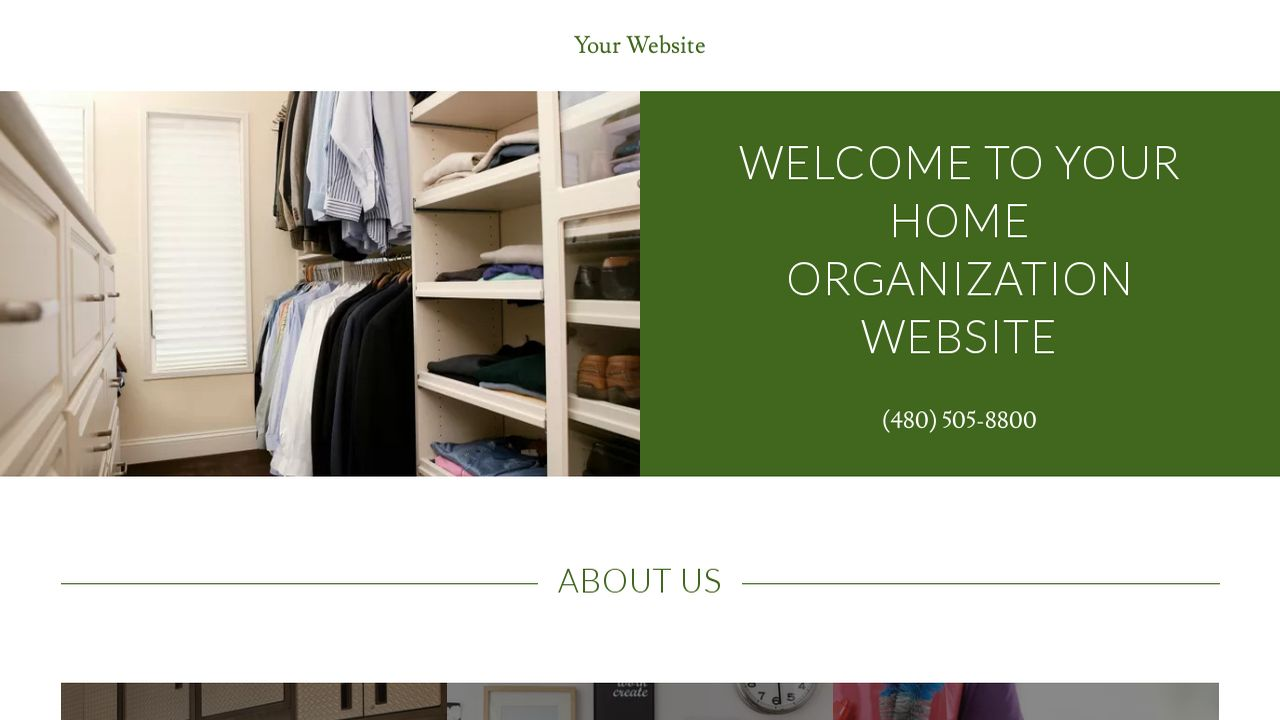 Home Organization Website: Example 5
