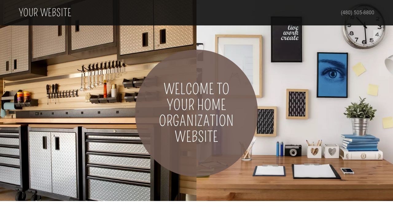Home Organization Website: Example 6