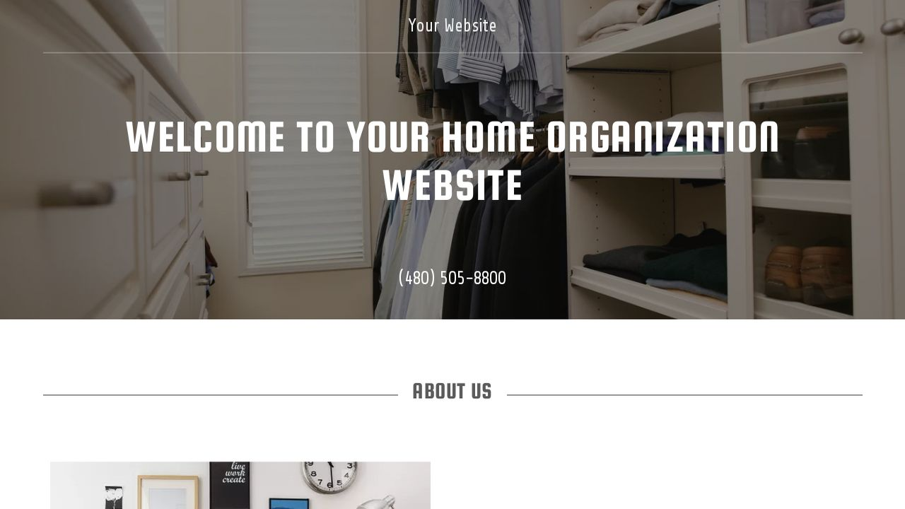 Home Organization Website: Example 7