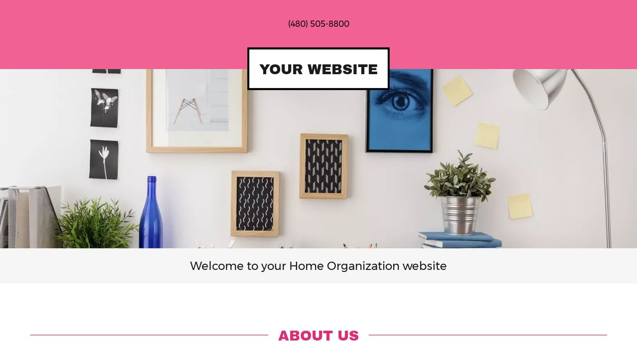Home Organization Website: Example 8