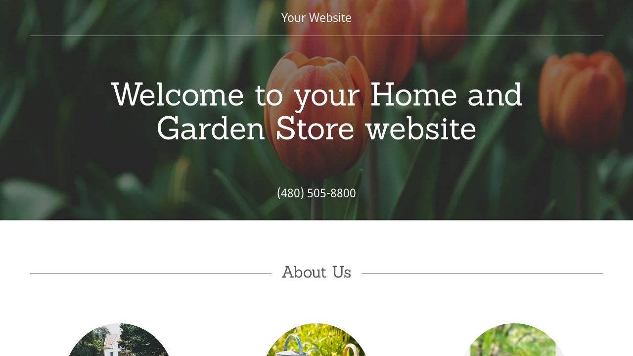 Home and Garden Store Website: Example 1