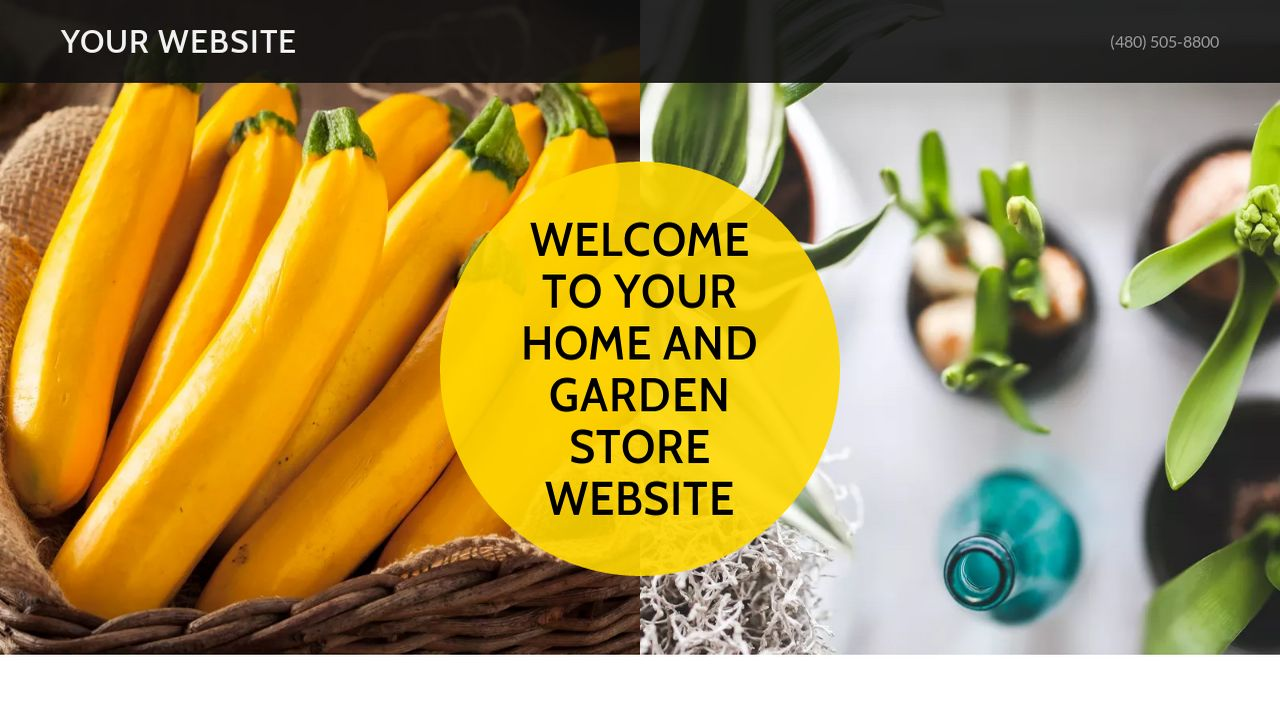 Home and Garden Store Website: Example 10