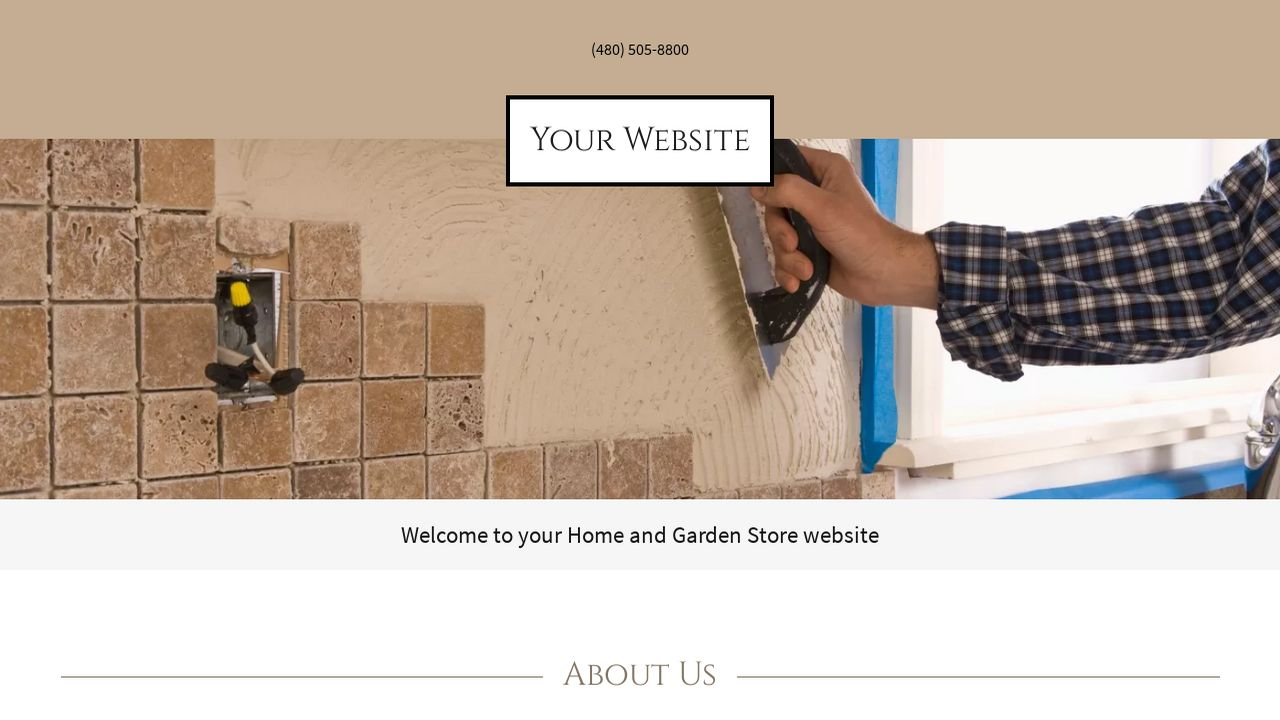 Home and Garden Store Website: Example 11