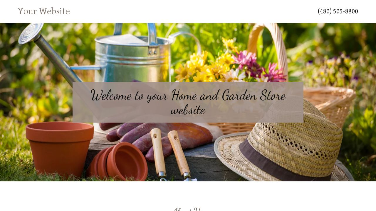Home and Garden Store Website: Example 13