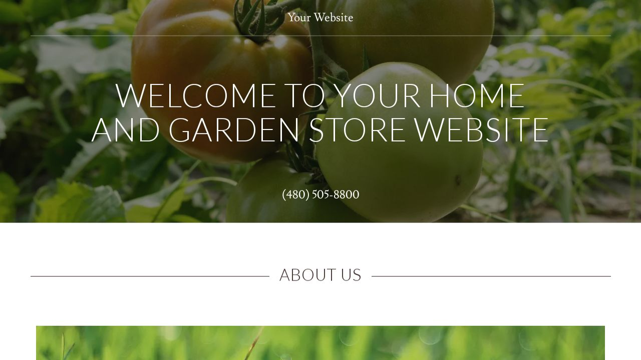 Home and Garden Store Website: Example 15
