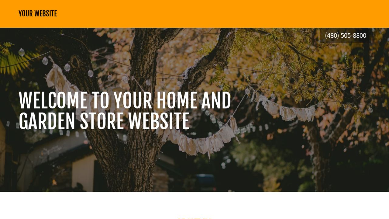 Home and Garden Store Website: Example 2