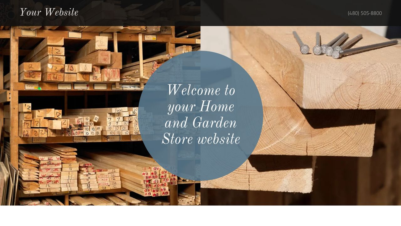 Home and Garden Store Website: Example 3