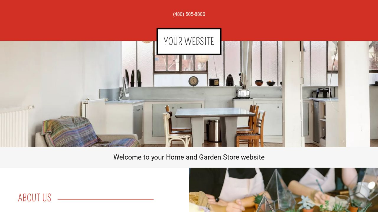 Home and Garden Store Website: Example 4