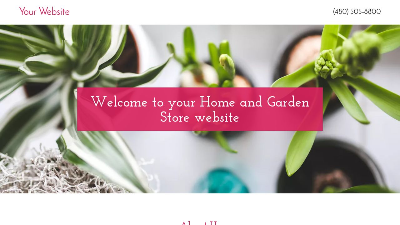 Home and Garden Store Website: Example 6