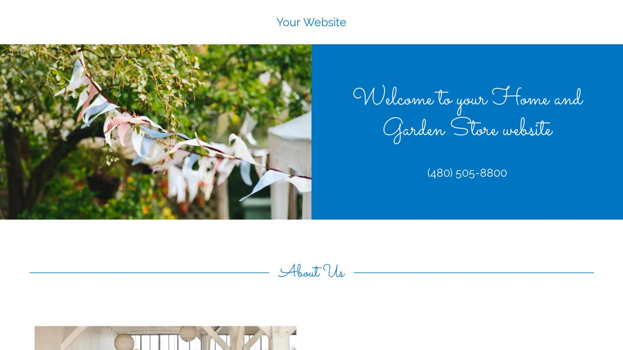 Home and Garden Store Website: Example 7