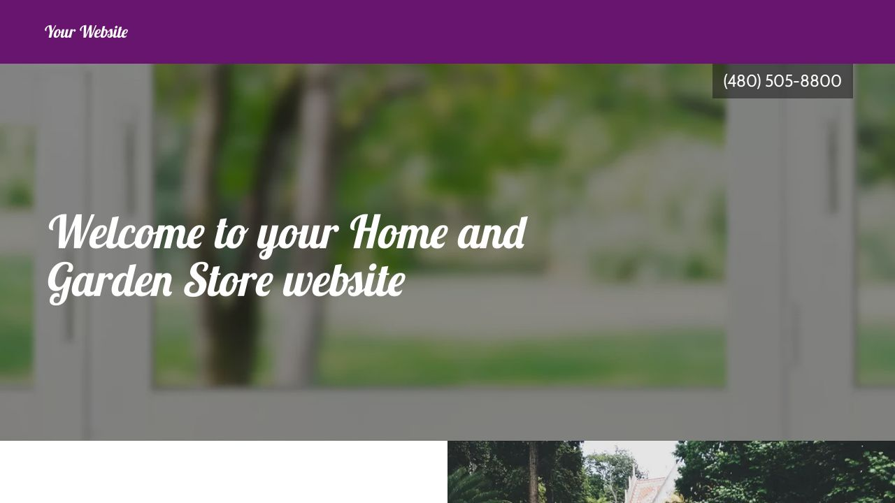 Home and Garden Store Website: Example 9