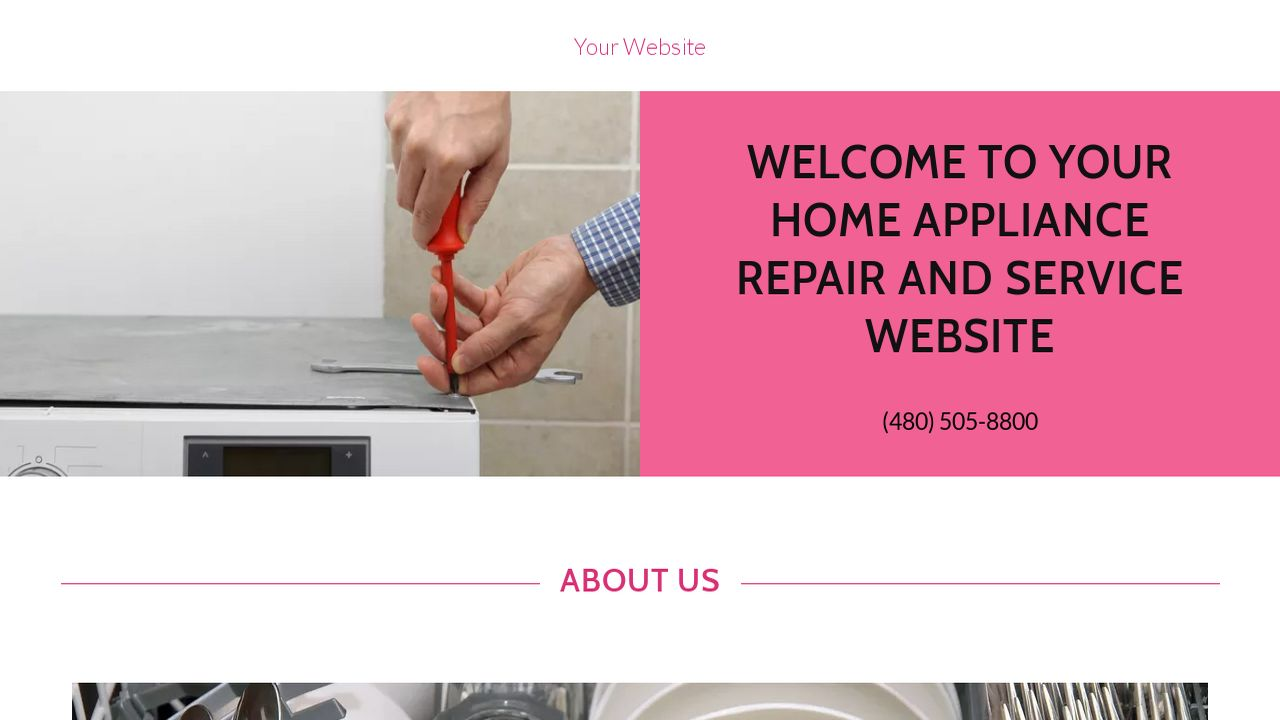 Home Appliance Repair and Service Website: Example 13