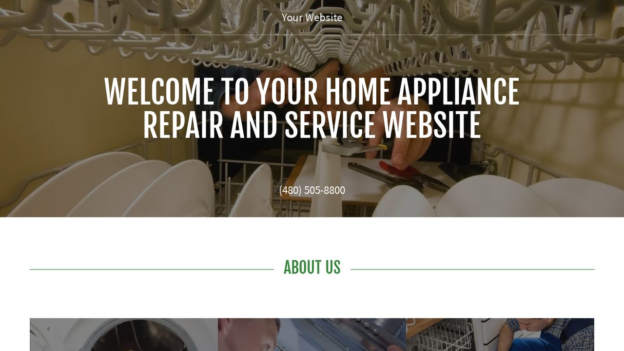 Home Appliance Repair and Service Website: Example 14