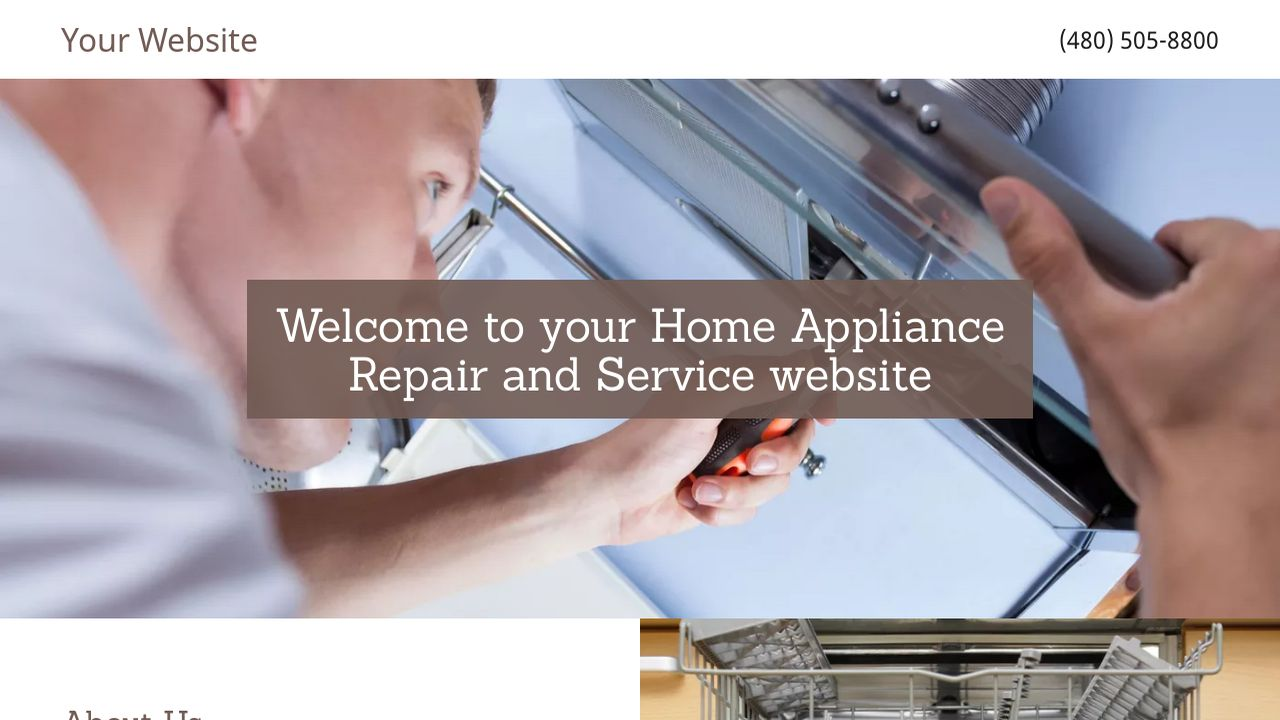 Home Appliance Repair and Service Website: Example 15