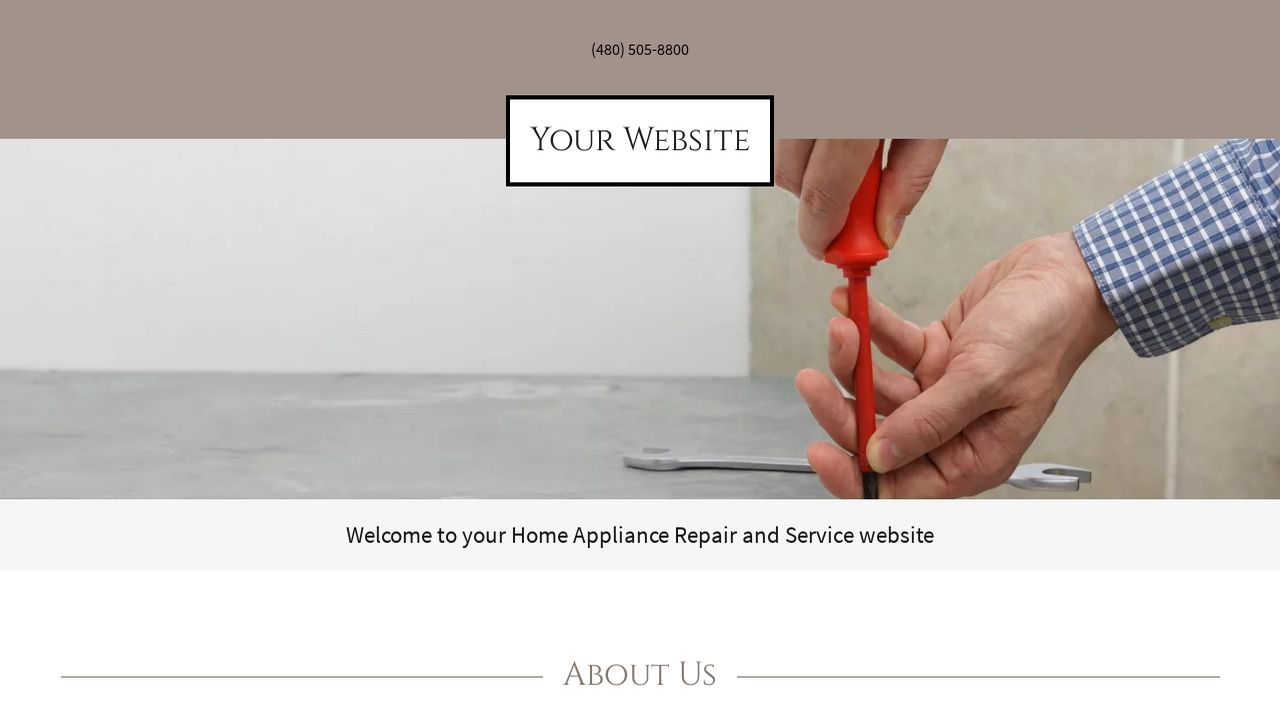 Home Appliance Repair and Service Website: Example 3