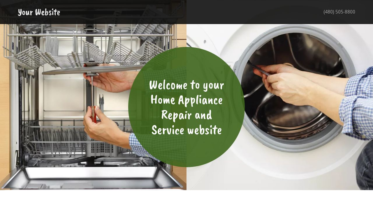 Home Appliance Repair and Service Website: Example 4