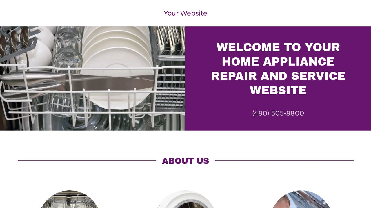 Home Appliance Repair and Service Website: Example 6